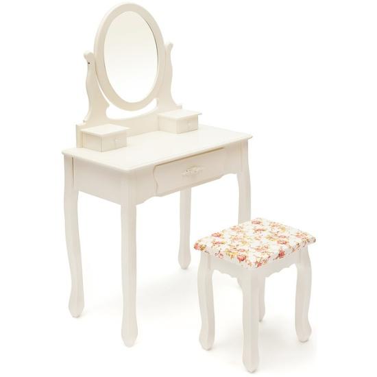 Туалетный столик с зеркалом и табуретом Secret De Maison HX15-075, Белый (butter white) id10348 - купить по выгодной цене в интернет-магазине ОНЛАЙН ТРЕЙД.РУ Уфа