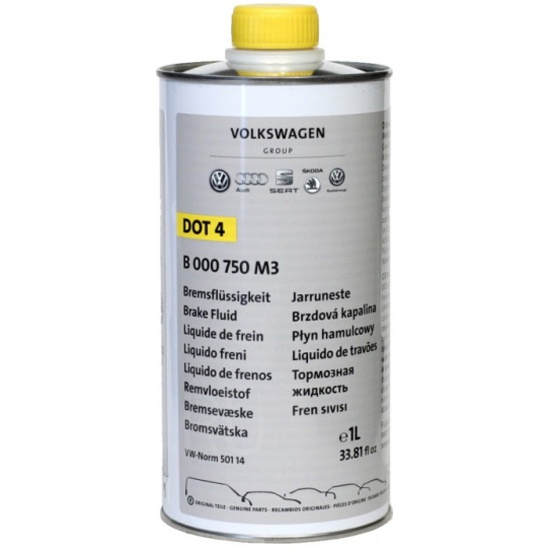 Тормозная жидкость VAG Universal DOT-4 1 л B 000 750 M3 — купить в интернет-магазине ОНЛАЙН ТРЕЙД.РУ