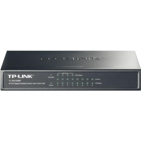 Коммутатор TP-LINK TL-SG1008P 8 ports Switch Ethernet 10/100/1000M — купить в интернет-магазине ОНЛАЙН ТРЕЙД.РУ