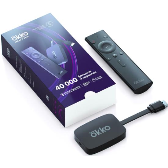 ТВ-приставка Okko Smart Box с голосовым поиском и подпиской Okko «Лайт» на 3 месяца ОККО-01 - купить по выгодной цене в интернет-магазине ОНЛАЙН ТРЕЙД.РУ Великий Новгород