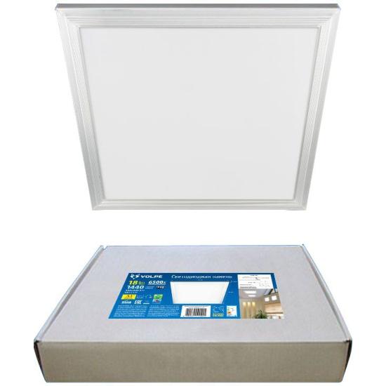 Светильник светодиодный потолочный универсальный ULP-Q107 3030-18W/6500K WHITE Дневной свет (6500K). Рассеиватель «матовый». В комплекте с и/п. Корпу — купить в интернет-магазине ОНЛАЙН ТРЕЙД.РУ