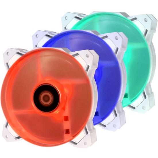 Вентилятор для корпуса ID-Cooling SF-12025-RGB TRIO-SNOW 120x120x25мм 700-1800RPM