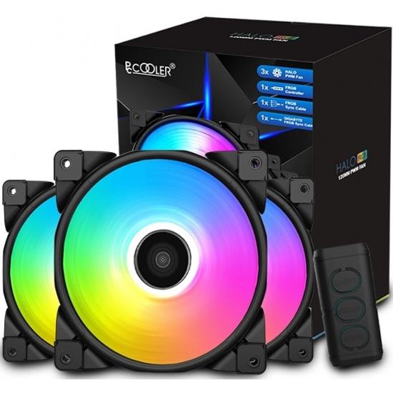 Вентилятор для корпуса PCCooler HALO RGB KIT 120x120x25мм 1000-2000 RPM