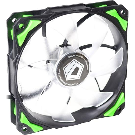 Вентилятор для корпуса ID-Cooling PL-12025-G Green LED/PWM- низкая цена, доставка или самовывоз по Челябинску. Вентилятор для корпуса ID-Cooling PL-12025-G Green LED/PWM купить в интернет магазине ОНЛАЙН ТРЕЙД.РУ