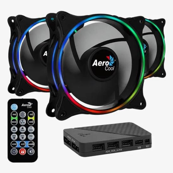 Вентиляторы для корпуса Aerocool Eclipse 12 Pro 120mm ARGB 3pack (4718009158139) — купить в интернет-магазине ОНЛАЙН ТРЕЙД.РУ