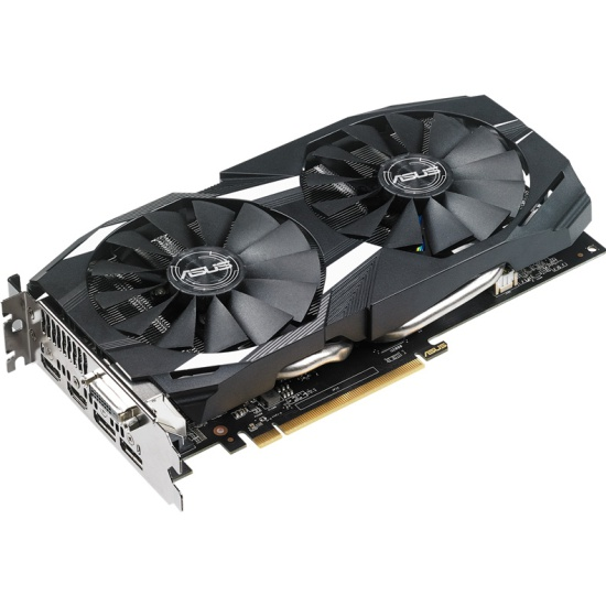 Видеокарта ASUS Radeon RX 580 1360Mhz PCI-E 3.0 4096Mb 7000Mhz 256 bit DVI 2xHDMI HDCP Dual OC (DUAL-RX580-O4G)