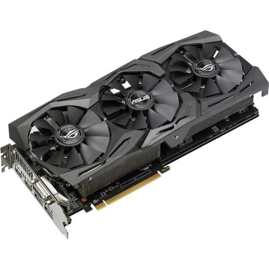 Видеокарта ASUS Radeon RX 580 1360Mhz PCI-E 3.0 8192Mb 8000Mhz 256 bit DVI 2xHDMI HDCP Strix OC Gaming (ROG-STRIX-RX580-O8G-GAMING) — купить в интернет-магазине ОНЛАЙН ТРЕЙД.РУ