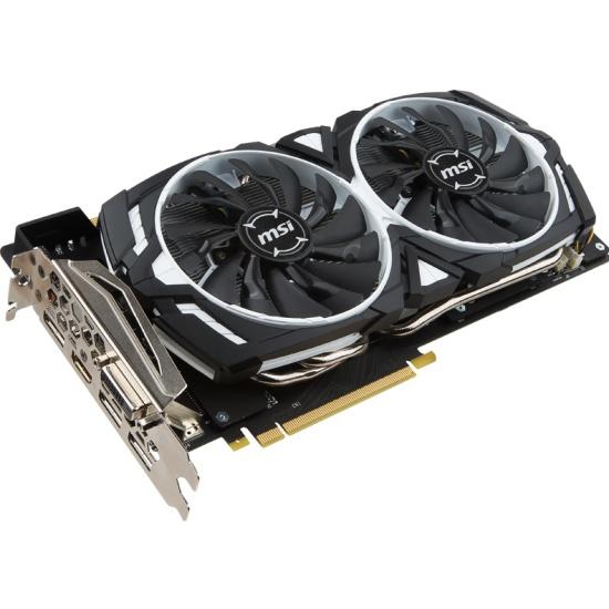 Видеокарта MSI GeForce GTX 1070 1556Mhz PCI-E 3.0 8192Mb 8008Mhz 256 bit DVI HDMI HDCP (GTX 1070 ARMOR 8G OC) — купить в интернет-магазине ОНЛАЙН ТРЕЙД.РУ
