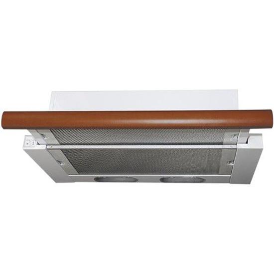 Кухонная вытяжка Elikor Интегра 60П-400-В2Л белый/бук орех