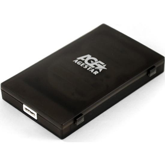 Внешний корпус для HDD AgeStar 3UBCP1-6G 2.5 пластик черный (3UBCP1-6G BLACK) — купить в интернет-магазине ОНЛАЙН ТРЕЙД.РУ
