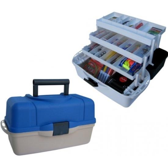Ящик рыболова HELIOS (Тонар) трехполочный синий 0040433 - купить в интернет-магазине ОНЛАЙН ТРЕЙД.РУ в Владимире.
