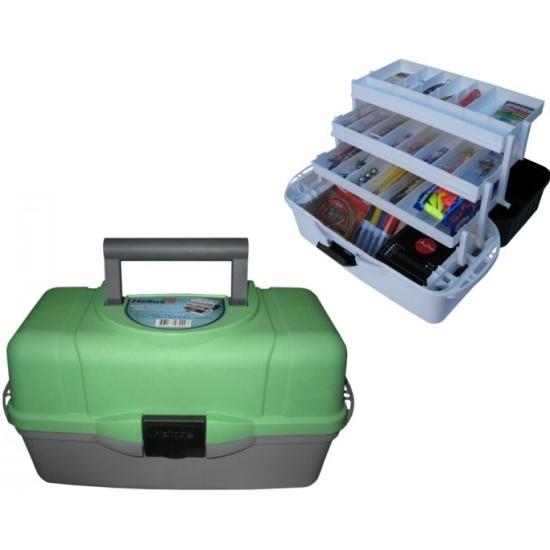 Ящик рыболова HELIOS (Тонар) трехполочный, зеленый 0040431 - купить в интернет-магазине ОНЛАЙН ТРЕЙД.РУ в Владимире.