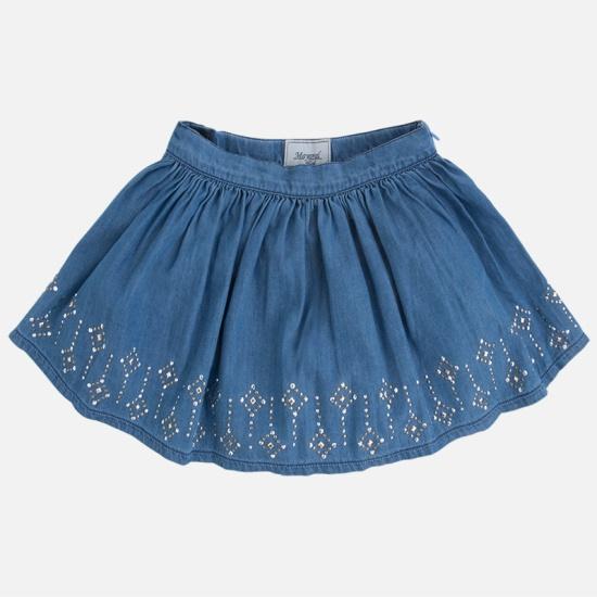 сделать юбку из гипюра