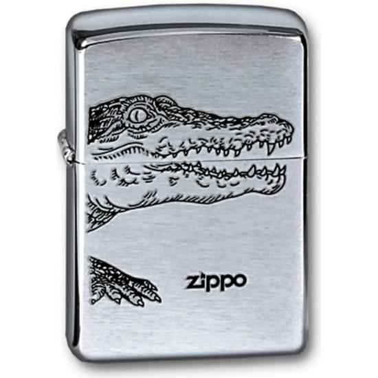 60663978b Зажигалка ZIPPO Alligator Brushed Chrome, латунь с никеле-хромовым  покрытытием, серебряный, матовая