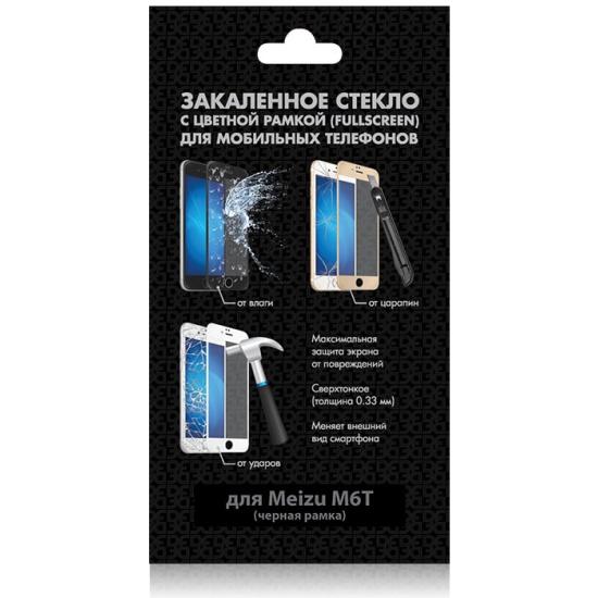 b66e3bb279cc Закаленное стекло (fullscreen) DF для Meizu M6T, черная рамка Изображение 1  - купить ...