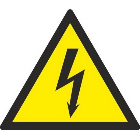 Знак безопасности ГАСЗНАК W08 Опасность поражения электрическим током (плёнка,150х150) уп.10шт - купить в интернет магазине с доставкой, цены, описание, характеристики, отзывы