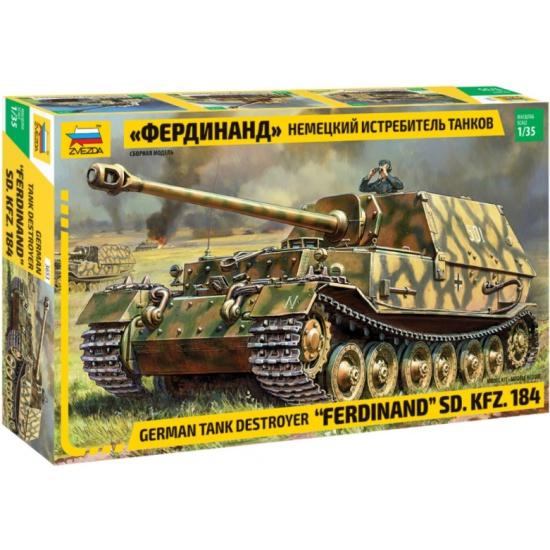 2b4fa0a76 Сборная модель ЗВЕЗДА 3653 Немецкий истребитель танков Фердинанд 1:35 -  купить в интернет магазине