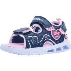d32268041 Сандалии КОТОФЕЙ 123008-11 для девочки, цвет синий/розовый, рус.размер