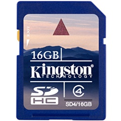 ����� ������ KINGSTON SDHC 16GB Class 4 (SD4/16GB)