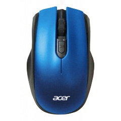 Мышь Acer OMR031 оптическая беспроводная USB черный/синий (1369684)