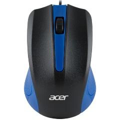 Мышь Acer OMW011 оптическая USB черный/синий (1369694)