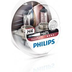 Лампа галогенная PHILIPS H4 VisionPlus 12V 60/55W, 2 шт, 12342VPS2 Изображение 1 - купить в интернет магазине с доставкой, цены, описание, характеристики, отзывы
