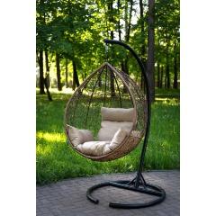 Подвесное кресло LAURA SEVILLA горячий шоколад + бежевая подушка Изображение 2 - купить в интернет магазине с доставкой, цены, описание, характеристики, отзывы