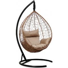 Подвесное кресло LAURA SEVILLA горячий шоколад + бежевая подушка Изображение 1 - купить в интернет магазине с доставкой, цены, описание, характеристики, отзывы