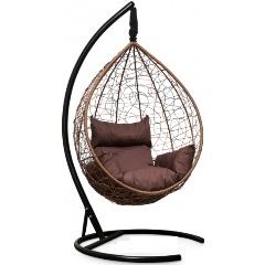 Подвесное кресло LAURA SEVILLA горячий шоколад + коричневая подушка