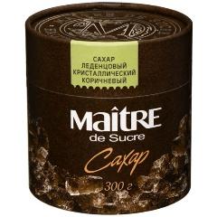 Сахар MAITRE леденцовый коричневый кристаллический, 300 гр.