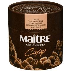 Сахар MAITRE тростниковый коричневый кусковой, 270 гр.