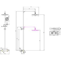 Душевая система Lemark Tropic LM7010C для ванны и душа, термостатический Изображение 2 - купить в интернет магазине с доставкой, цены, описание, характеристики, отзывы