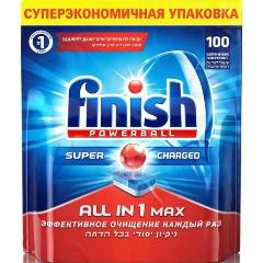 Таблетки для посудомоечных машин FINISH All in 1, бесфосфатные, 100 шт