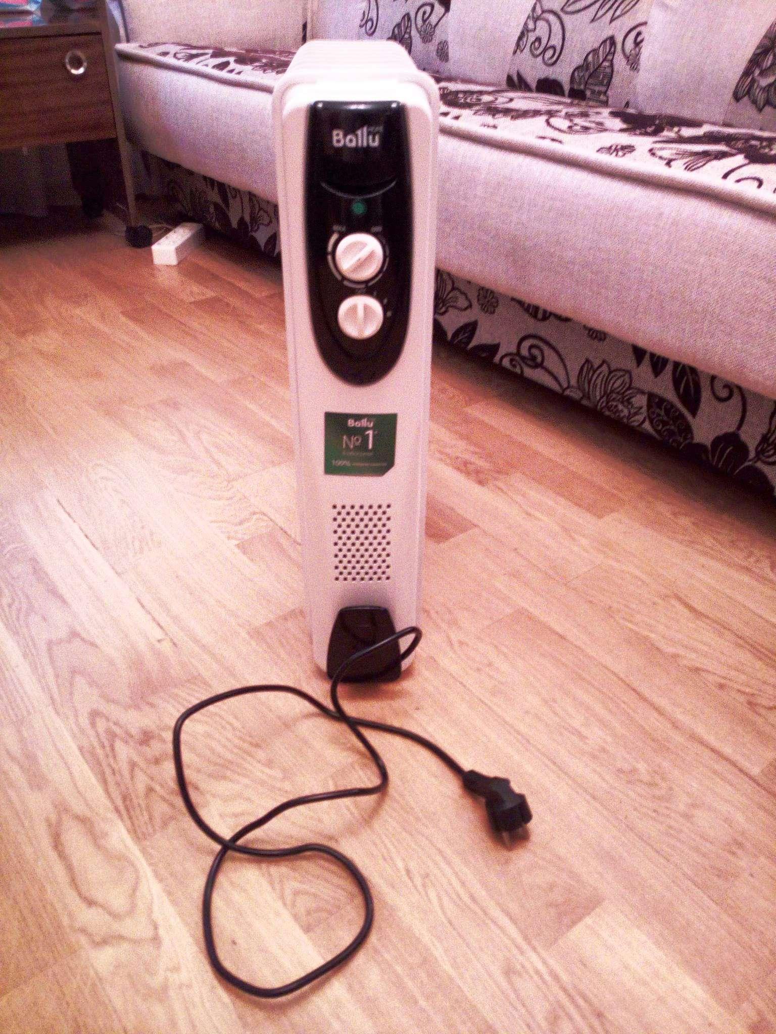 Масляный радиатор BALLU BOH/CL-09BRN 2000 Вт чёрный