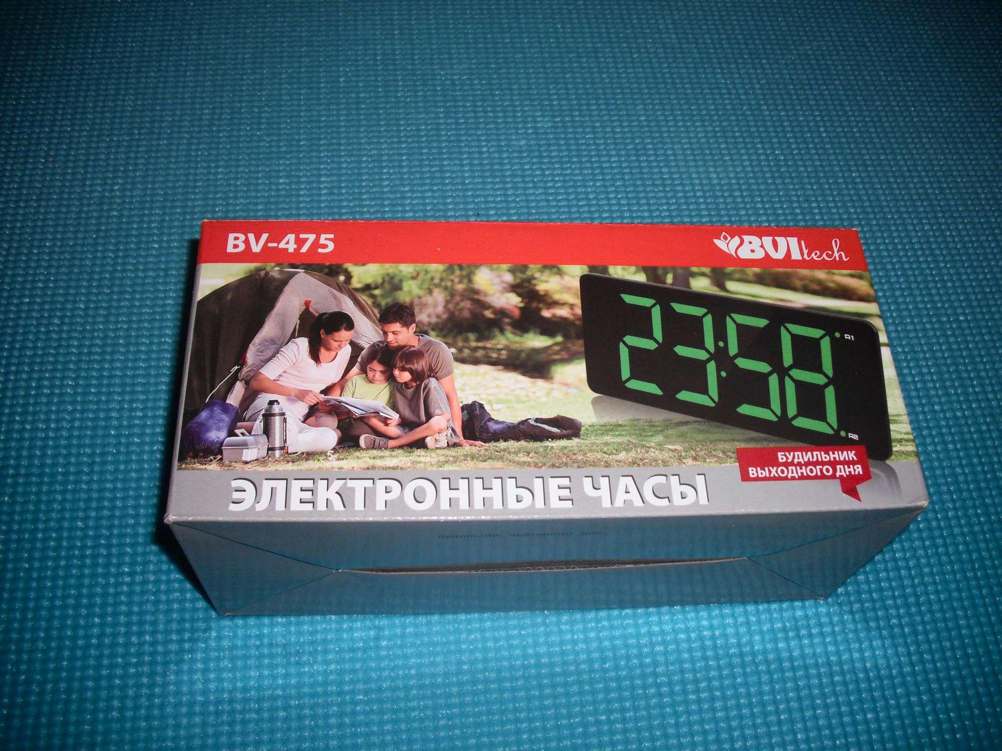 Настольные часы bvitech bv-412g сетевые