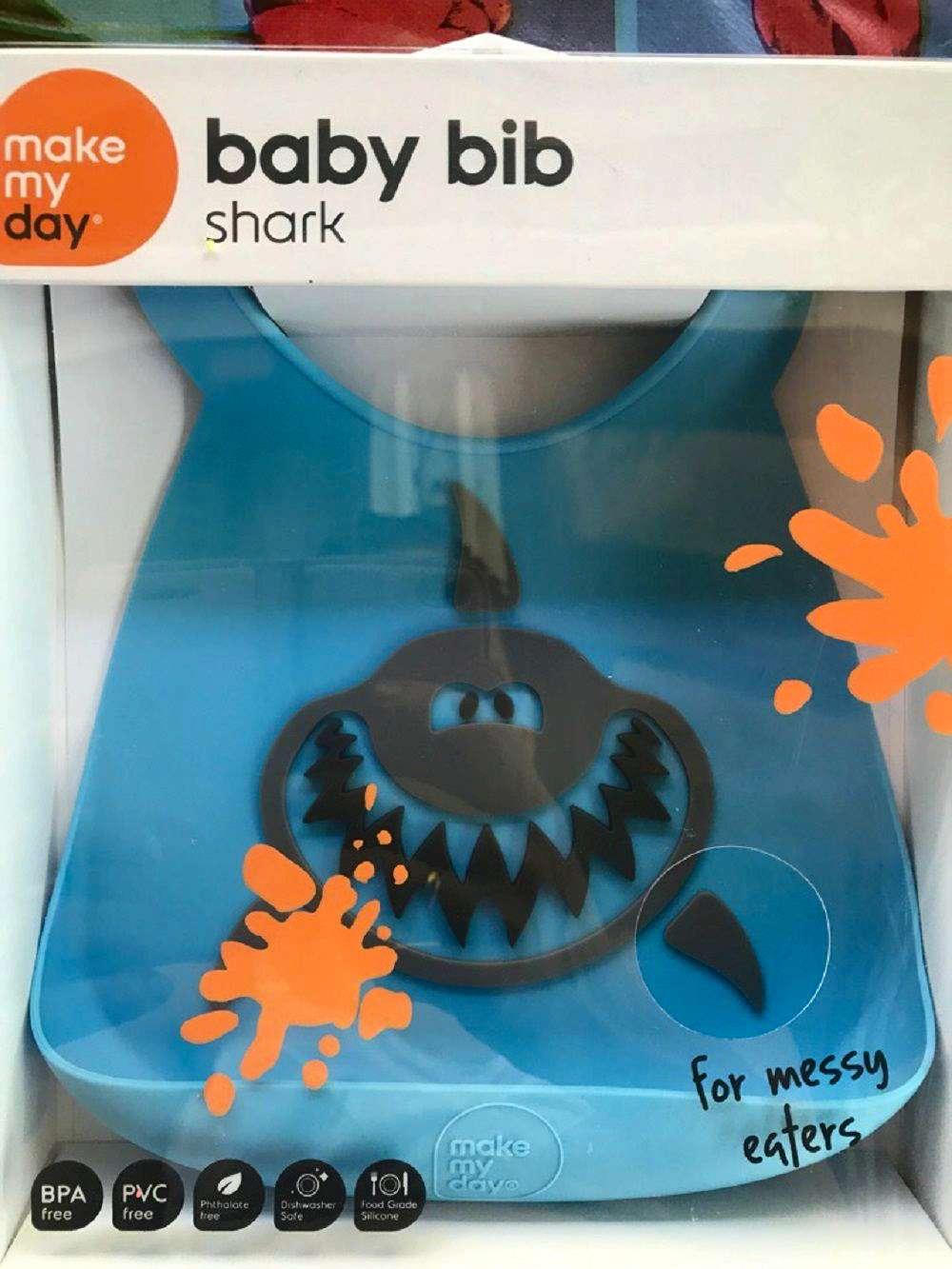 Make My Day Baby Bib Shark Bb118 Penguin