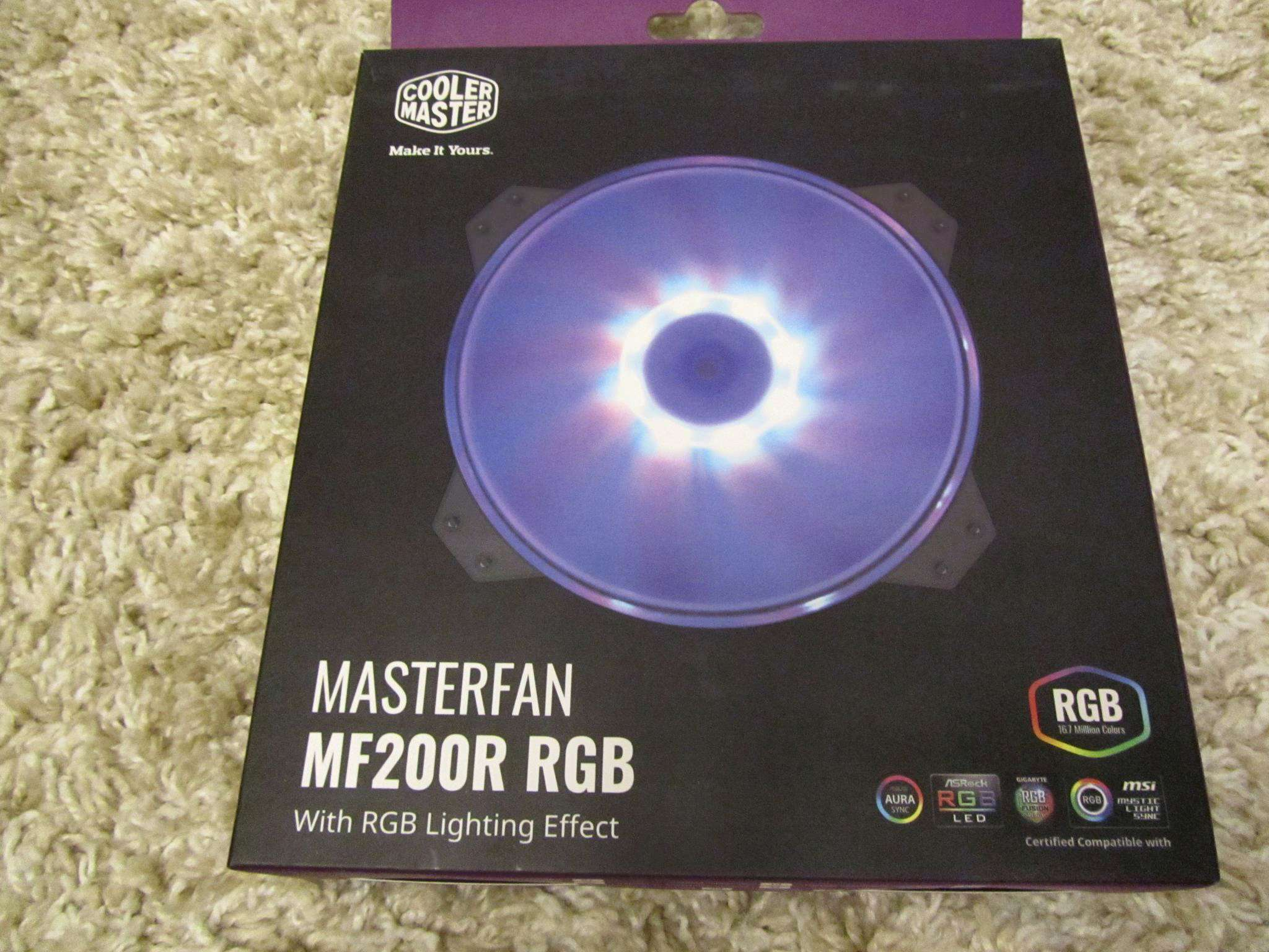 Вентилятор для корпуса Cooler Master MF200R RGB LED Fan 3pin  (R4-200R-08FC-R1)