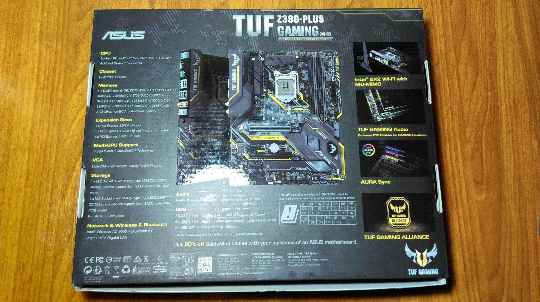 Материнская плата ASUS TUF Z390-PLUS GAMING (WI-FI) (LGA1151, ATX