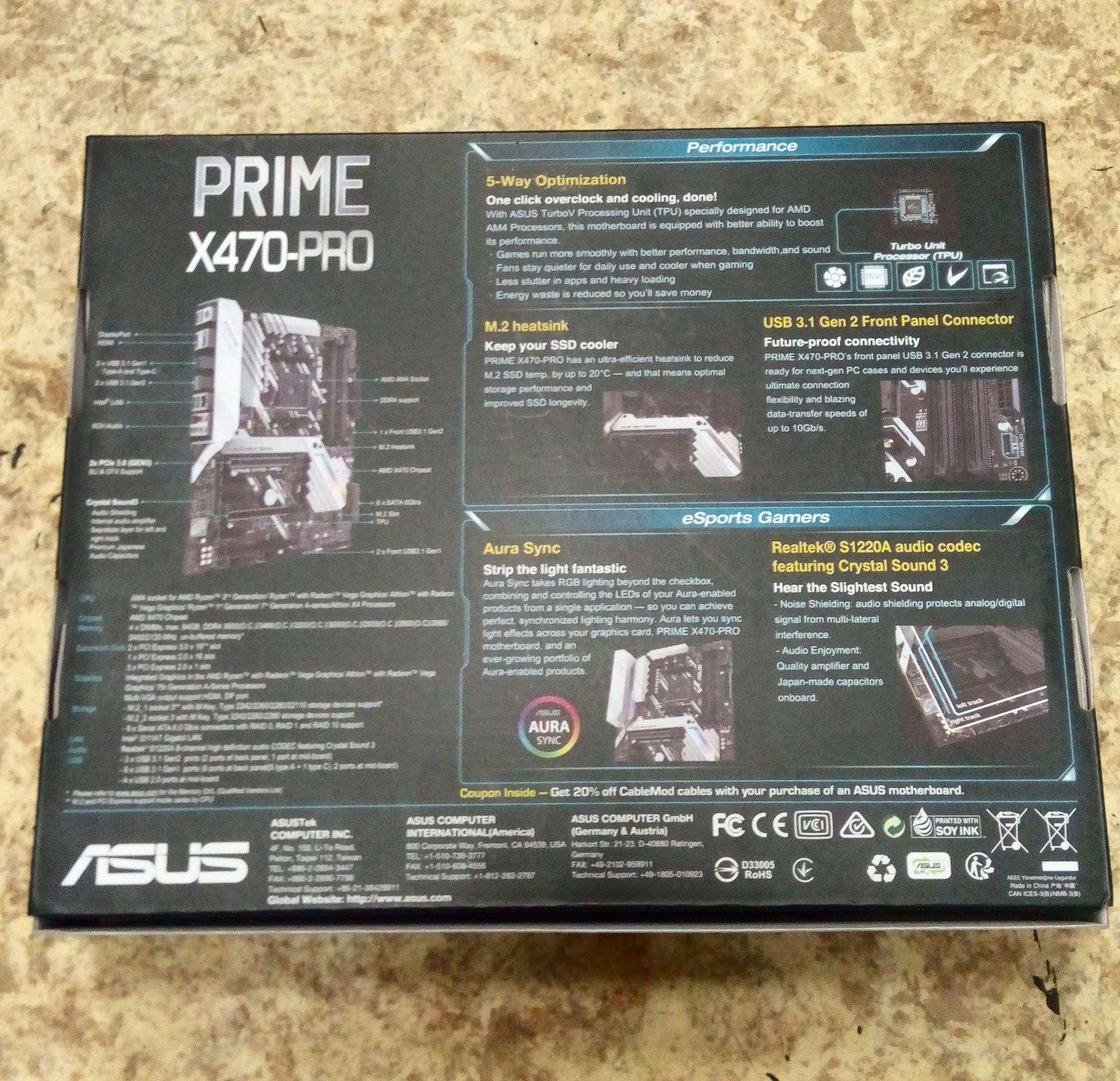 Материнская плата ASUS PRIME X470-PRO (AM4, ATX)