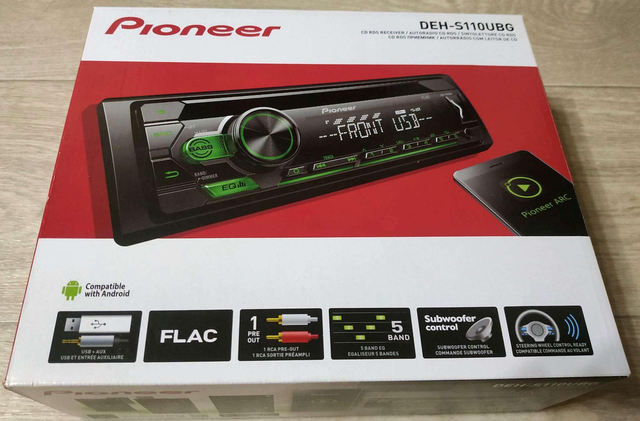 cd//mp3 autorradio con USB//AUX-in Pioneer deh-s110ubg