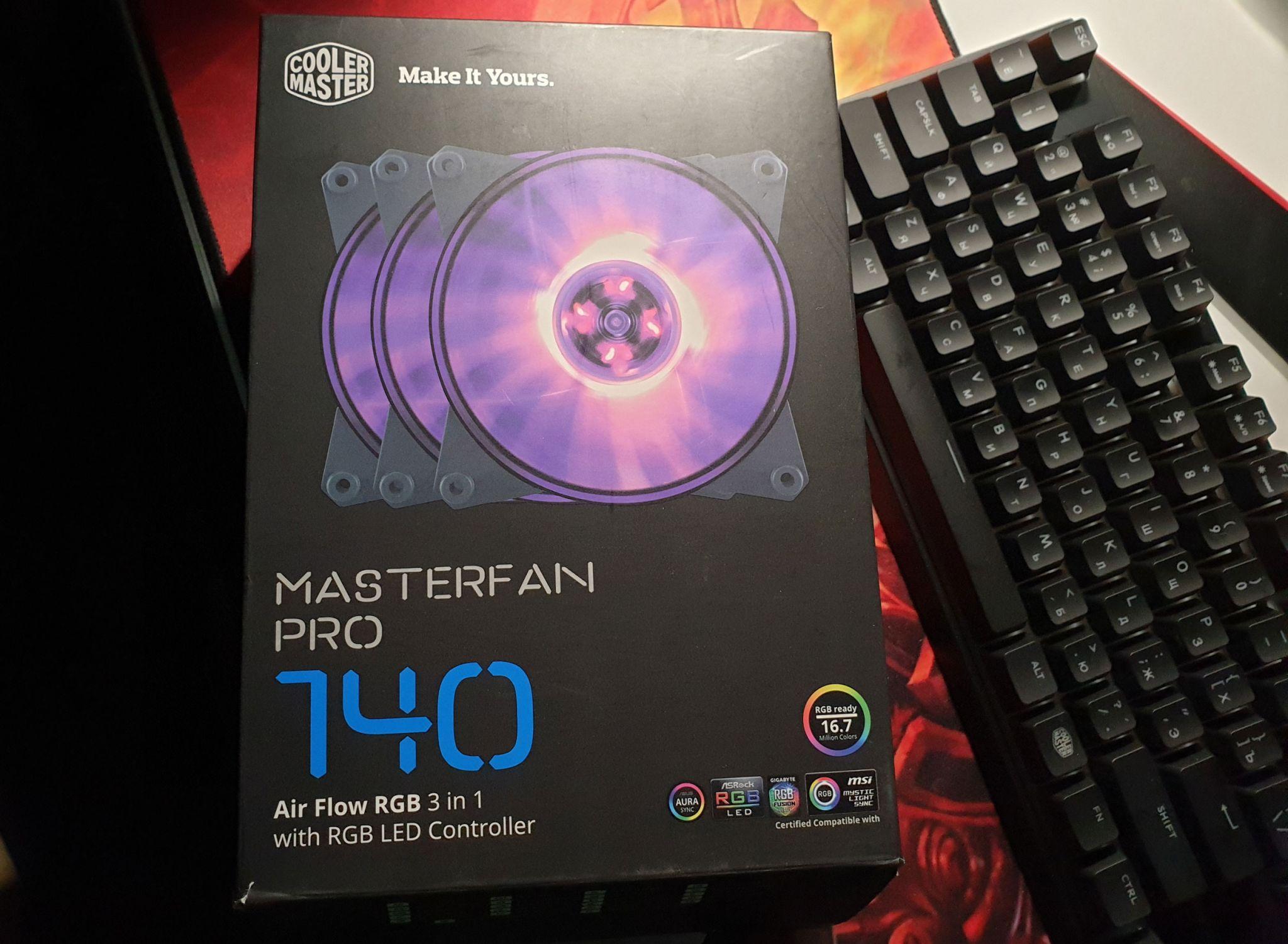 Вентилятор для корпуса Cooler Master MasterFan Pro 140 Air Flow RGB 3 in 1  (MFY-F4DC-083PCR1)