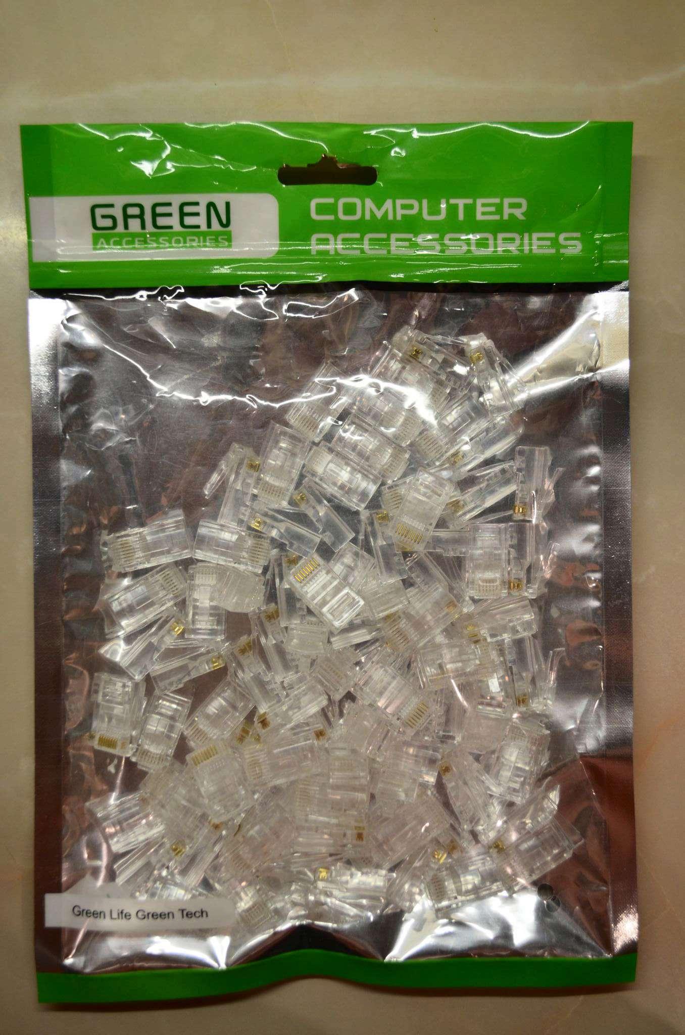 Greenaccessories RJ-45 UTP cat.5e GA-PLUG5WG коннектор - 100 шт