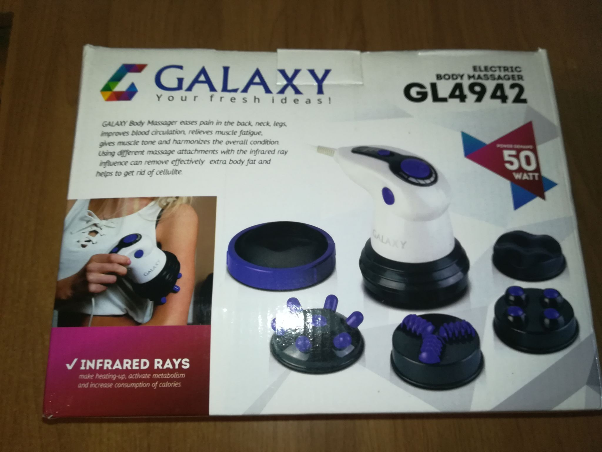 Массажер ручной galaxy gl4942 массажер офисный