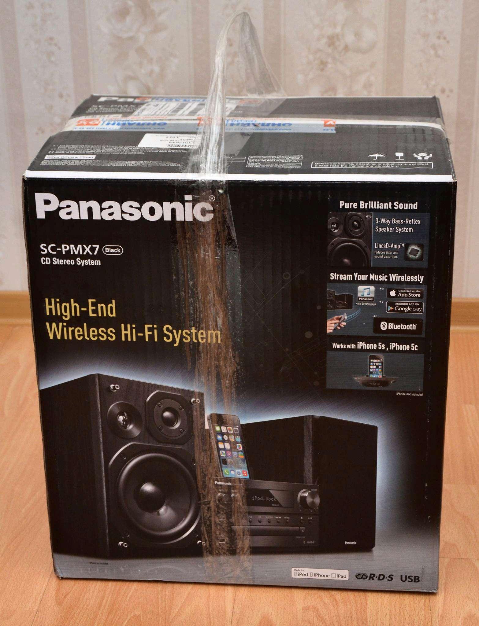 Микросистема Panasonic SC-PMX7EE-K, черный — купить в интернет ... 7dbb33109aa