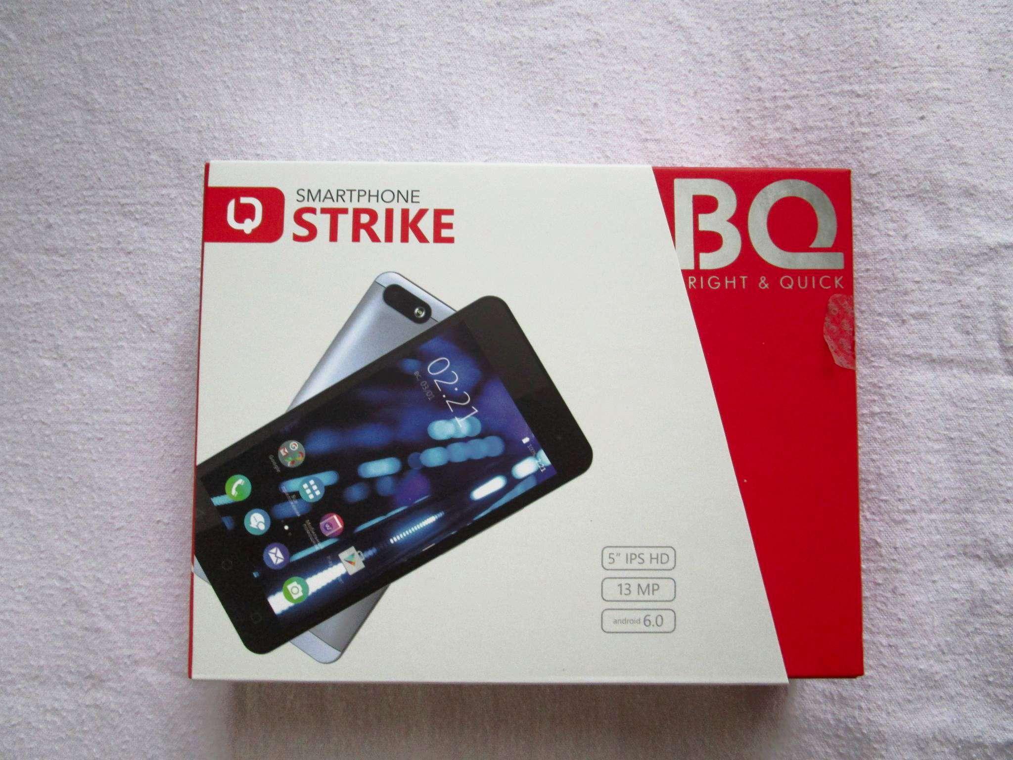 Смартфон BQ 5058 Strike Power Easy Black MediaTek MT6580M (1.3)/8 Gb/1 Gb/5