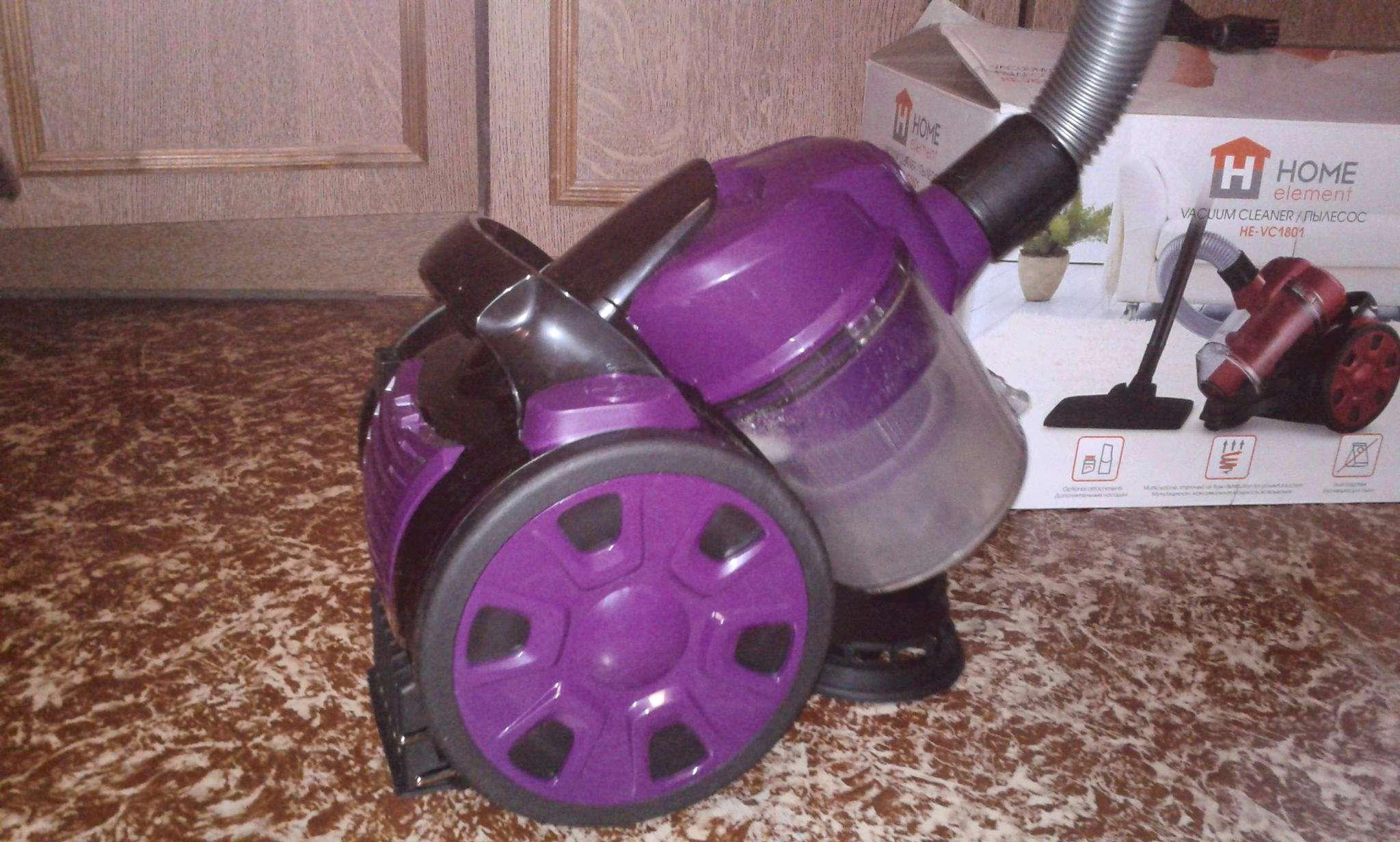 Пылесос с контейнером для пыли HOME ELEMENT