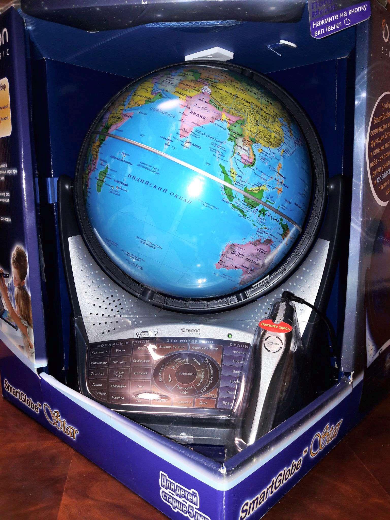 Интерактивный глобус Oregon Scientific