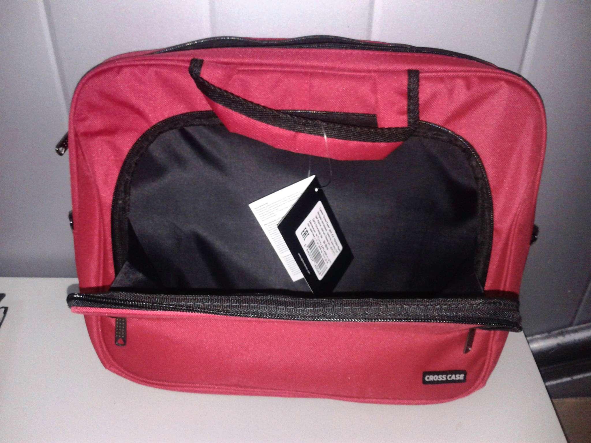 Сумка для ноутбука Cross Case CC15-004, красная — купить в интернет ... 606cbaf2a46