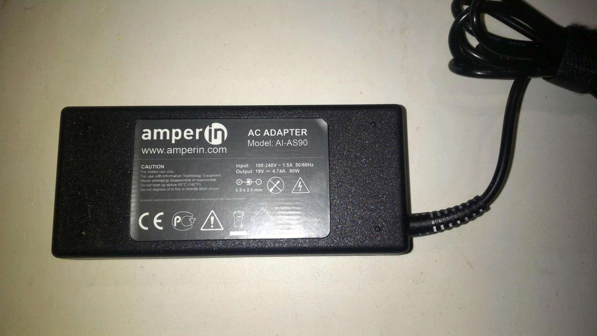 Блок питания Amperin AI-LX1 для Lenovo X1 Carbon 20V 4.5A 90W