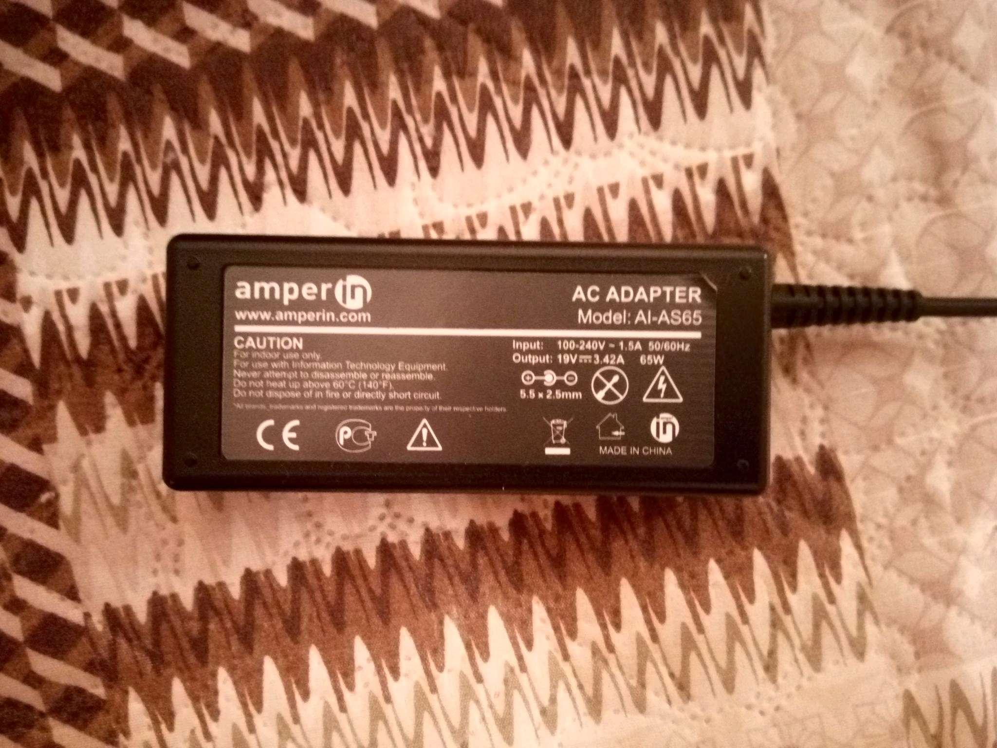 Блок питания Amperin AI-AC40 для Acer 19V 2.1A 5.5x1.7mm 40W